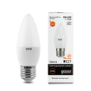 Gauss LED 8w-2700-E27 свеча